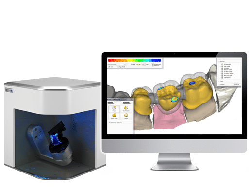 Nos solutions cad cam : Scanner Identica & Exocad