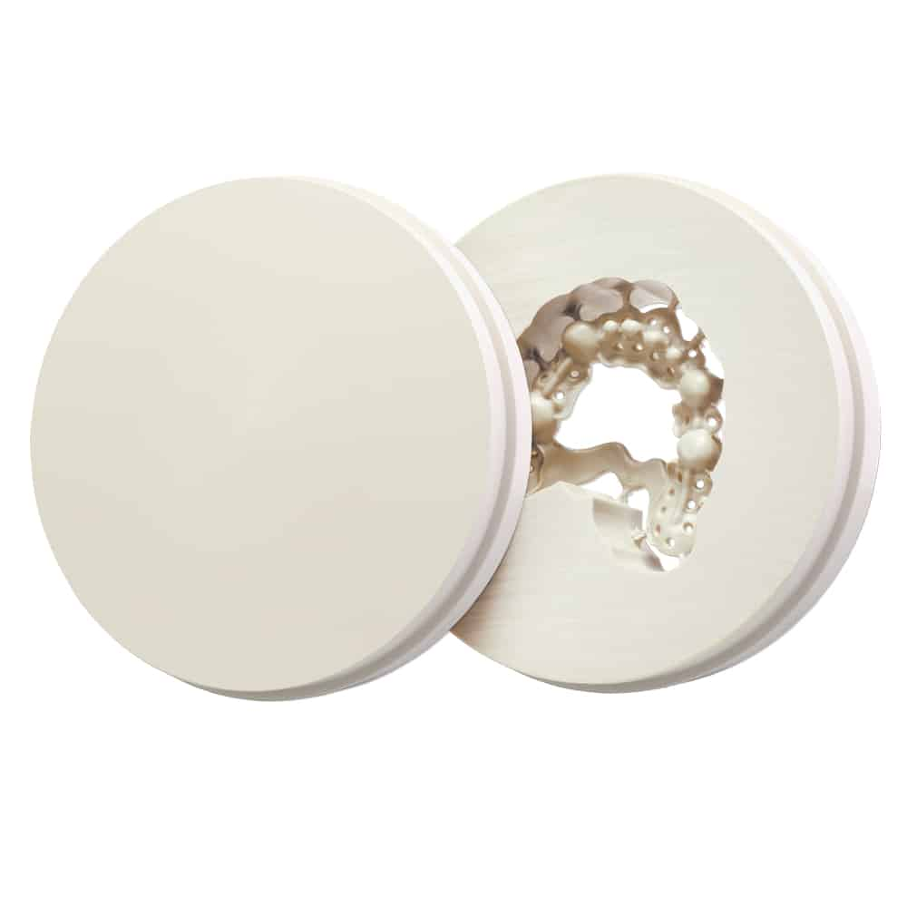 Juvora Dental PEEK Oyster White, Ø 98.5 Mm