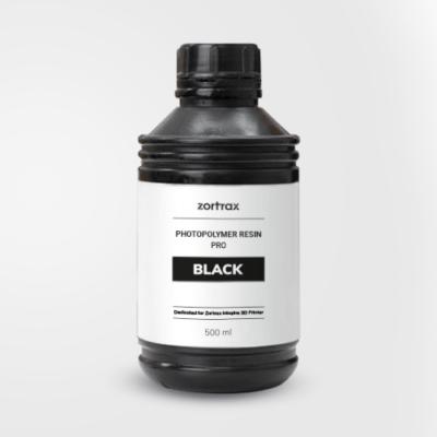 Résine Pro Zortrax Noire 500ml