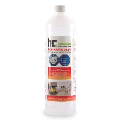 Alcool Bioéthanol à 96,6% Dénaturé 1 L
