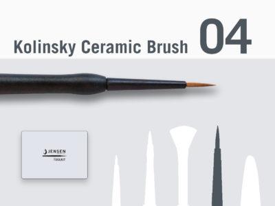 Pinceau Kolinsky Ceramic Brush Size 2